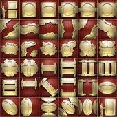 Goud en hout achtergrond instellen — Stockfoto