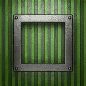 Metal sobre fondo verde — Vector de stock