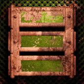 Fundo de metal antigo — Vetor de Stock