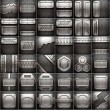 Metal background set — Stock Photo
