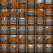 Old metal background set — Stock Photo