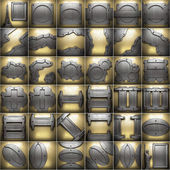 Gold and silver background set — Stock Photo