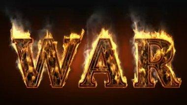 Guerra com fogo e fumaça. Alfa emaranhada — Vídeo stock