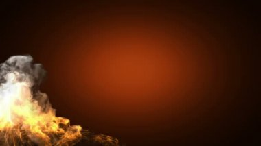 Alpha matted fire — Stock Video