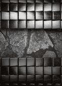 金属和石头背景 — 图库矢量图片