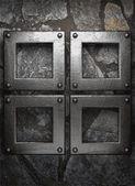 Metaal en stenen achtergrond — Stockvector