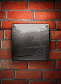 Metal and brick background — Vettoriale Stock