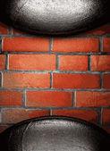 Metall och tegel bakgrund — Stockvektor