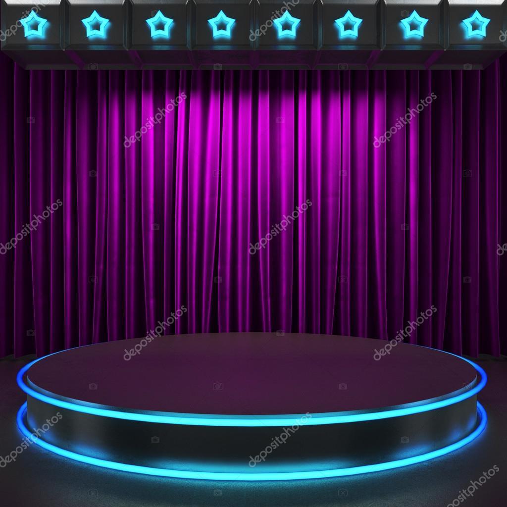 Fabrick cortina en el escenario con luces de ne n foto - Cortinas para escenarios ...