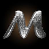 Vector Metal figure m — Stockvektor