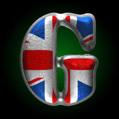 Vector Great Britain metal figure g — Stock Vector