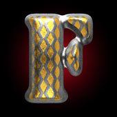Vettoriale f figura d'argento e d'oro — Vettoriale Stock