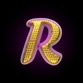 Vector golden and pink letter r — Stock Vector