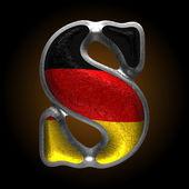 Vector Germany metal figure s — Wektor stockowy