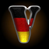 Vector Germany metal figure v — Vector de stock