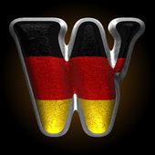 Vector Germany metal figure w — Vector de stock