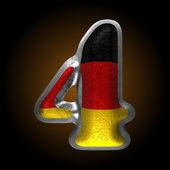 Vector Germany metal figure 4 — Wektor stockowy