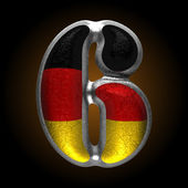 Vector Germany metal figure 6 — Vector de stock