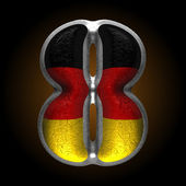 Vector Germany metal figure 8 — Vector de stock