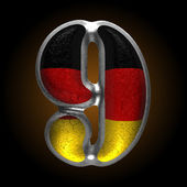 Vector Germany metal figure 9 — Vector de stock