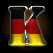 Vector Germany metal figure k — Vector de stock