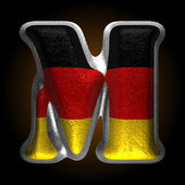 Vector Germany metal figure m — Vector de stock