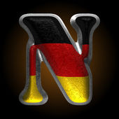 Vector Germany metal figure n — Vector de stock