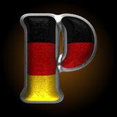 Vector Germany metal figure p — Wektor stockowy