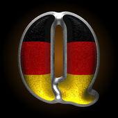 德国金属图 q 矢量 — 图库矢量图片