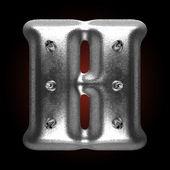 Vector metal construction figure h — Vecteur