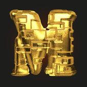 Vector gouden alfabet m — Stockvector