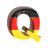 Vector Germany cutted figure q — Stock Vector