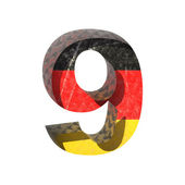 Vector Germany cutted figure 9 — Stock Vector