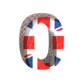 Vector Great Britain cutted figure 0. Paste to any background — Stock Vector