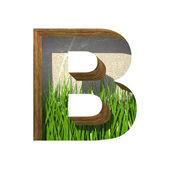 任意の背景にベクトル草刈り取ら図 b. ペースト — ストックベクタ