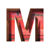 Vector metal cutted figure m. Paste to any background — Vettoriale Stock