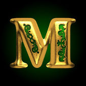 Vector golden letter m — Stock Vector
