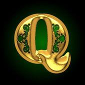 вектор золотая буква q — Cтоковый вектор