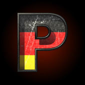 Vector Germany cutted figure p — Stockvector