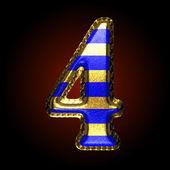 Vector letra dourada e azul 4 — Vetor de Stock