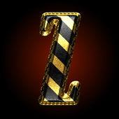 векторные черно -золотая буква z — Cтоковый вектор