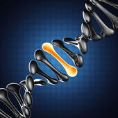 DNA model on blue background — Stock Photo