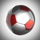 Soccer ball on gray background — Stock Photo