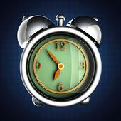 Glossy alarm clock — Stock Photo