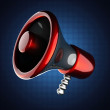 Metallic cartoon megaphone — Stock Photo