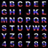 Russian metal alphabet on black — Stock Photo