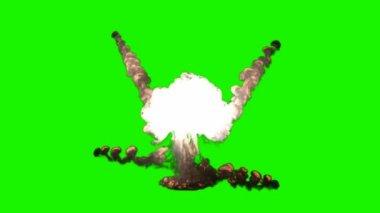Chromakey bomb explosion — Stock Video