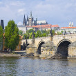Stock Photo: Prague Castle (Czech: Prazsky hrad) and Charles Bridge