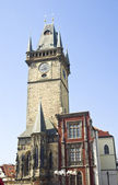 Old Town Hall tower and clock, Prague — Stock Photo