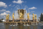 Friendship of the Peoples Fountain In Moscow — 图库照片